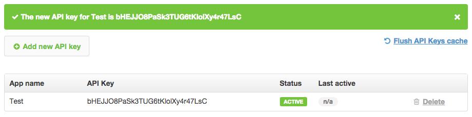 Creating TextMagic SMS Gateway API key