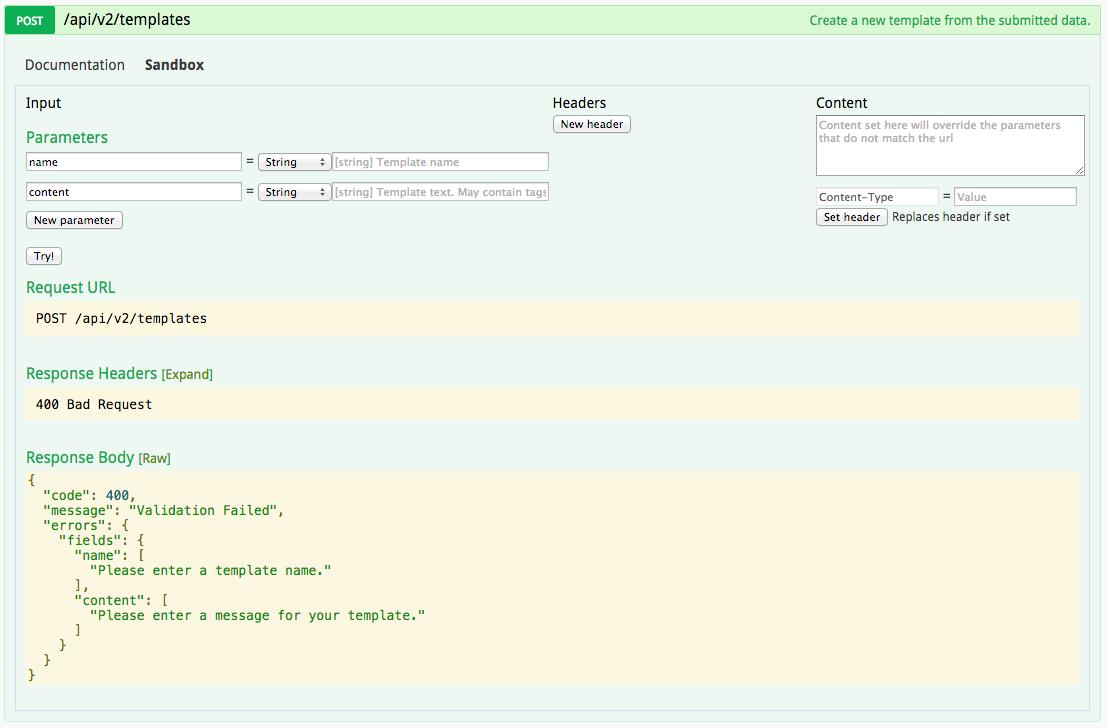 TextMagic SMS Gateway API Sandbox 4