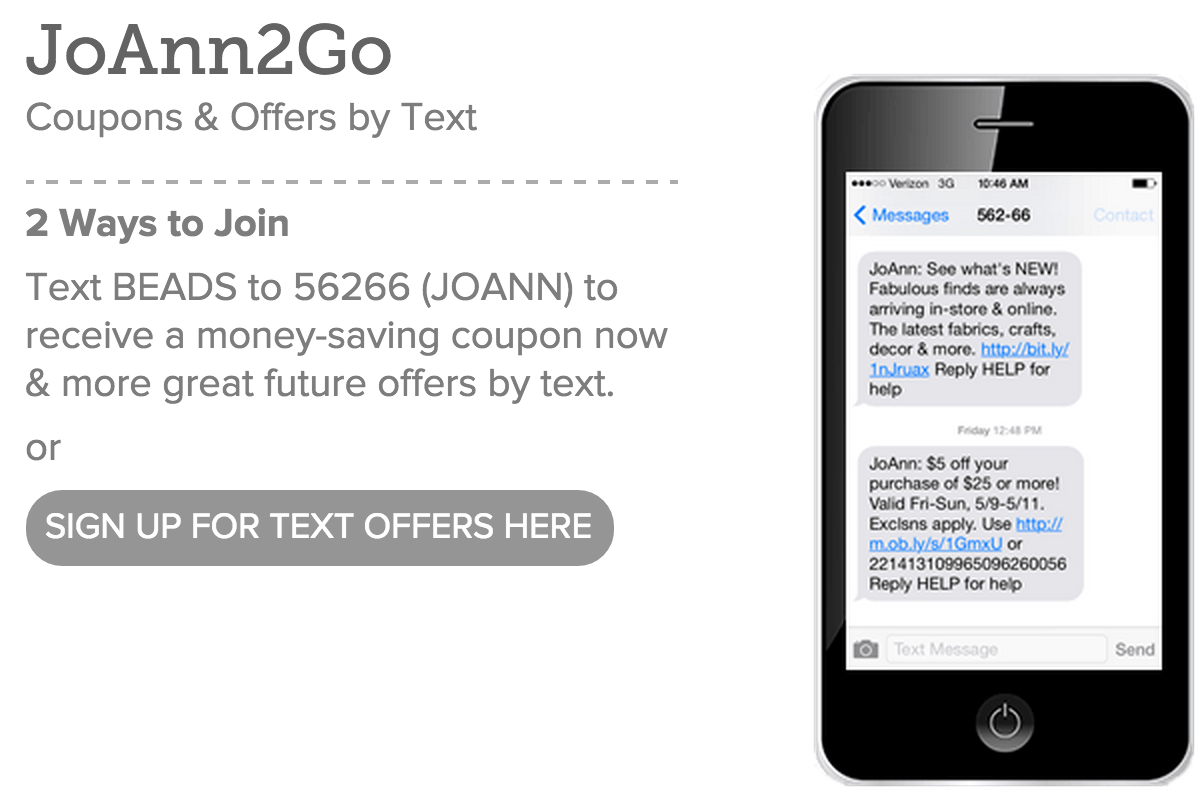 Let your customers what they are signing up for with your SMS messages.