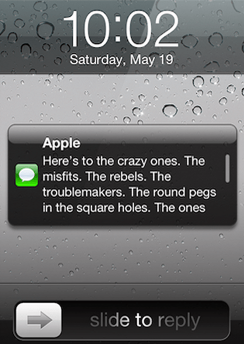 Mobile phone owners get instant notifications when they receive a text.