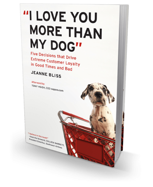 I LOVE YOU MORE THAN MY DOG. Book by Jeanne Bliss.
