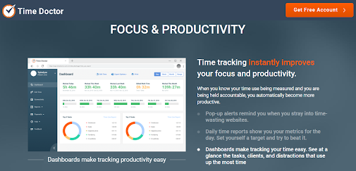 Time Doctor app for productivity