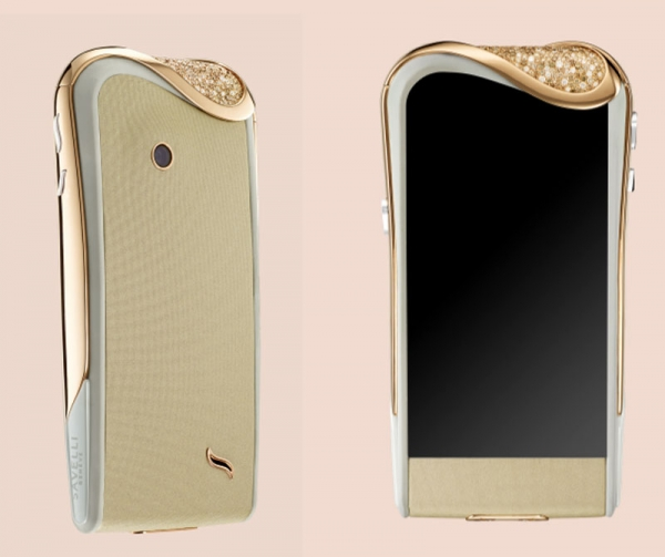 Alessandro Savelli Champagne Diamonds smartphone from the Jardins Secret Collection is studded with 395 white and cognac diamonds and comes encased in 18-carat rose gold.