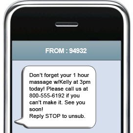 Appointment reminder SMS