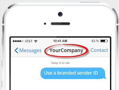 Branded sender ID