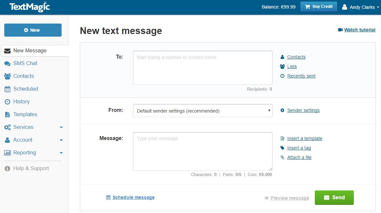 SMS platform