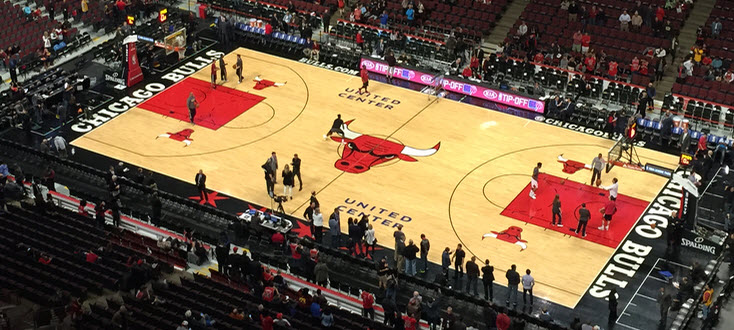 Chicago Bulls basketball court