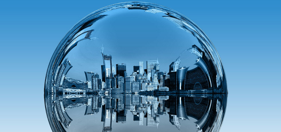 City in bubble