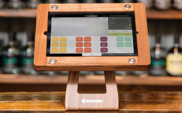 point of sale software on an iPad