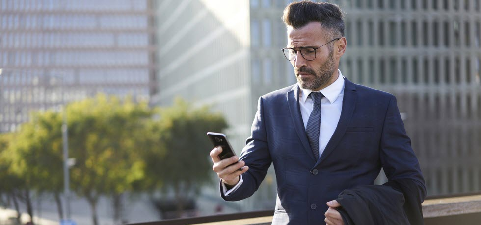 Businessman got debt collection text message