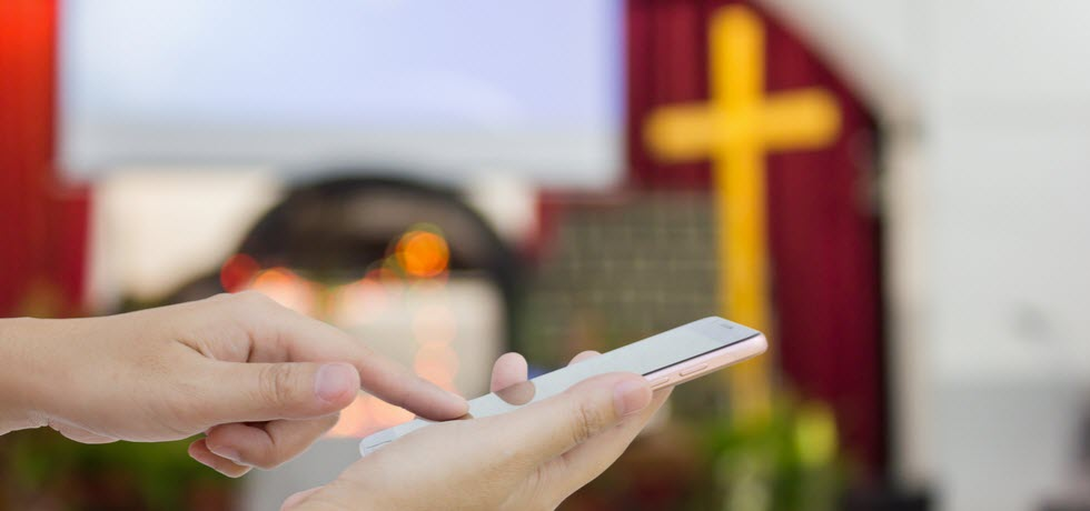 Texting in church