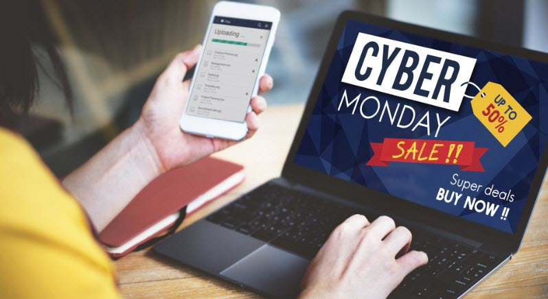 Cyber monday sale, looking to mobile and laptop