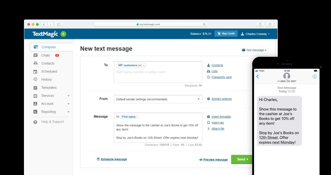 TextMagic-SMS