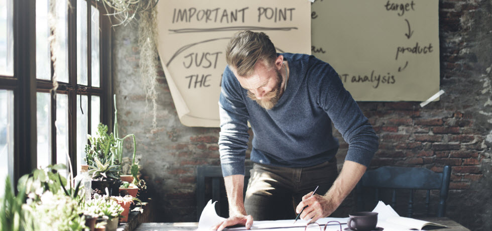 Business owner figuring out new strategies