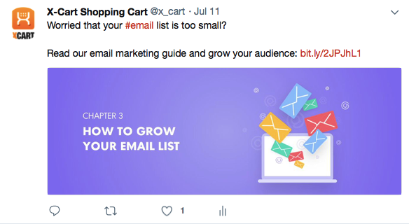 Tweet in Twitter, How to grow your email list