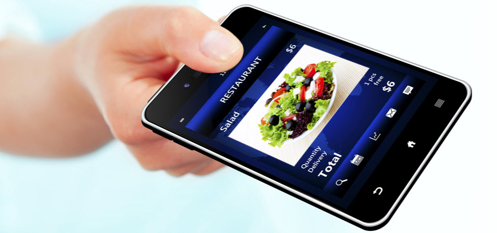mobile phone with restaurant order