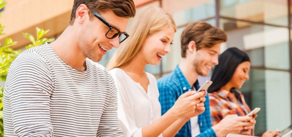 Millenials texting