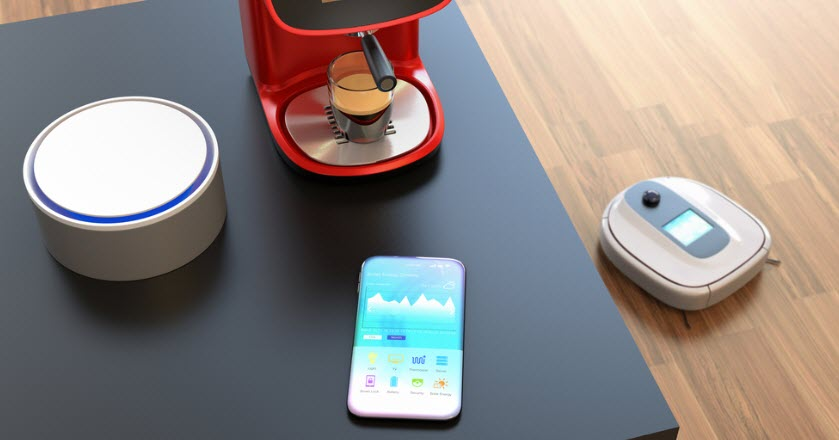 Smart speaker, smartphone, smart cofeemaker, robot vacuum cleaner