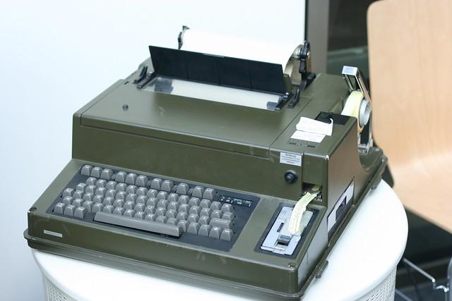 A telex machine