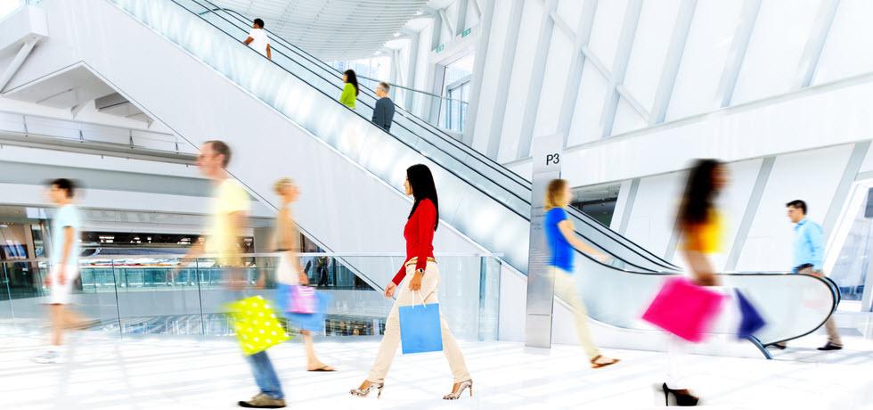 people walking at shopping mall