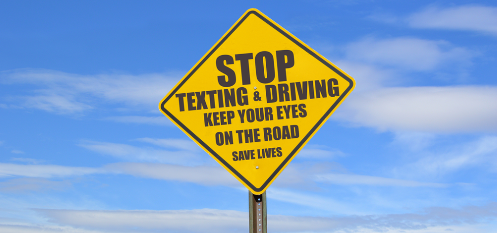 Stop Texting and Driving Yellow Traffic sign