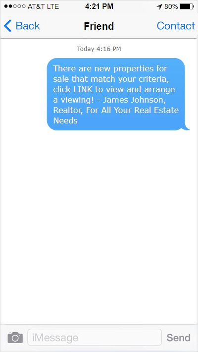 text message example
