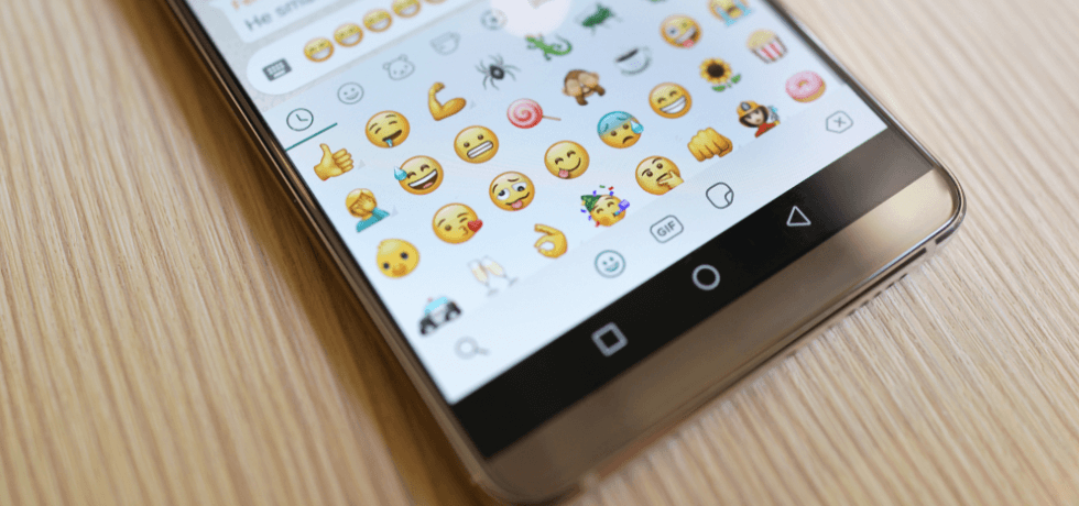 Emoji text in mobile phone